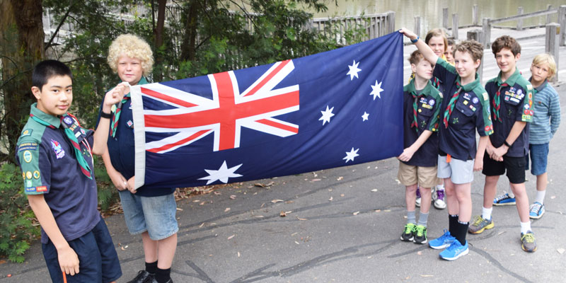 Scouts at Australia Day celebrations