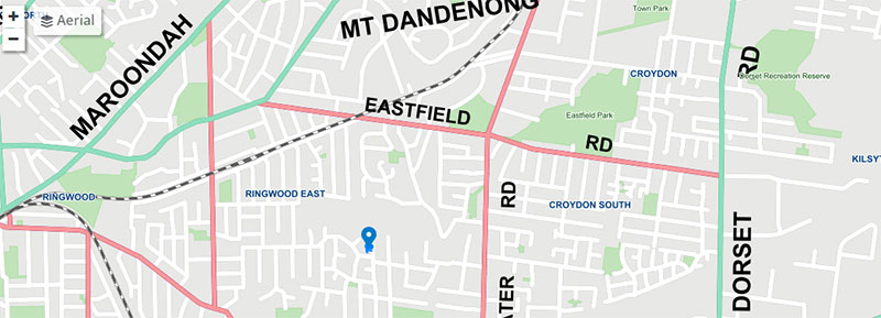 Map of part of Maroondah