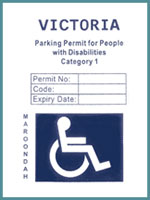 Disabled Parking Permit - category 1