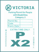 Disabled Parking Permit - category 2