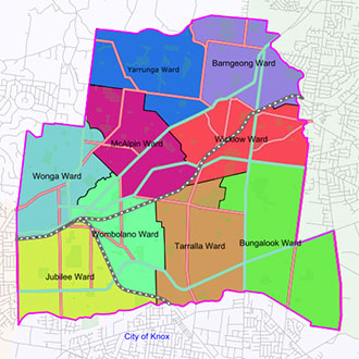 GIS map of Maroondah