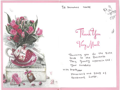Thank you letter for knits